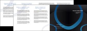 modele depliant 4 volets  8 pages  web design noir fond noir bleu MLGI78722