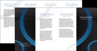 personnaliser modele de depliant 4 volets  8 pages  web design noir fond noir bleu MLGI78726