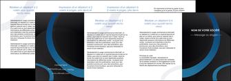 imprimer depliant 4 volets  8 pages  web design noir fond noir bleu MLGI78728