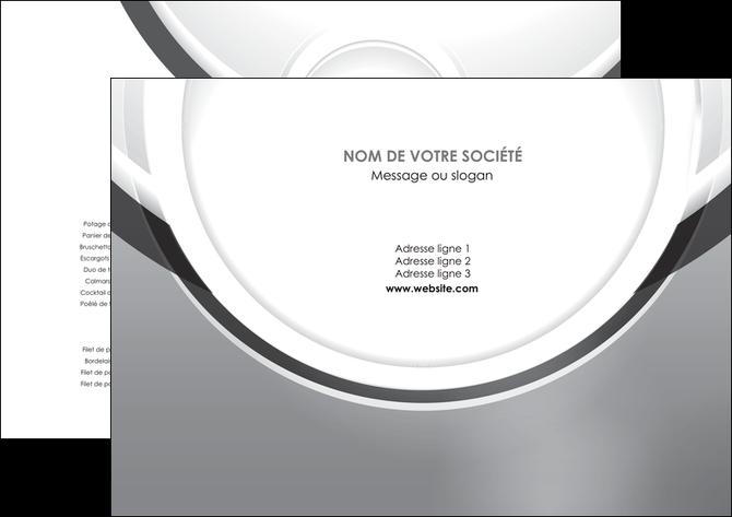 imprimerie set de table web design gris fond gris rond MLIG78950