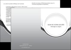 cree depliant 2 volets  4 pages  web design gris fond gris rond MIS78956