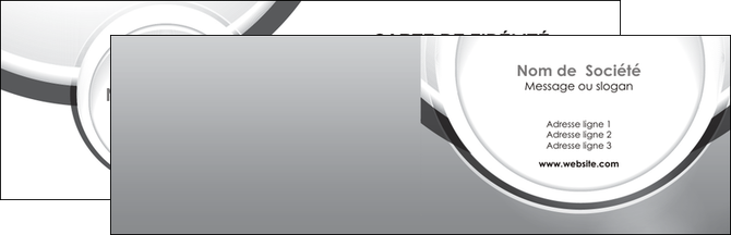 impression carte de visite web design gris fond gris rond MLIG78958