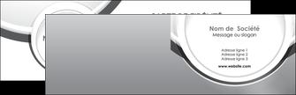 impression carte de visite web design gris fond gris rond MIS78958