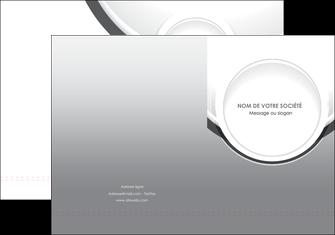 modele pochette a rabat web design gris fond gris rond MLIG78962