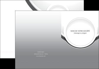 imprimerie pochette a rabat web design gris fond gris rond MIS78964