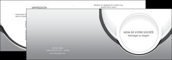 modele depliant 2 volets  4 pages  web design gris fond gris rond MIS78966