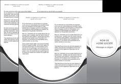 personnaliser modele de depliant 3 volets  6 pages  web design gris fond gris rond MLIG78976