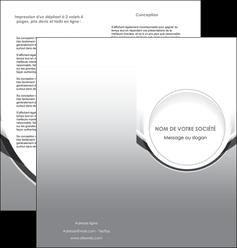 personnaliser maquette depliant 2 volets  4 pages  web design gris fond gris rond MLIG78978