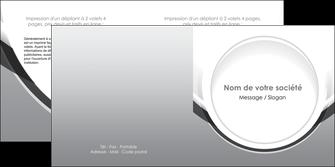 cree depliant 2 volets  4 pages  web design gris fond gris rond MIS78980