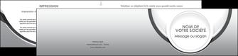 realiser depliant 2 volets  4 pages  web design gris fond gris rond MIS78986