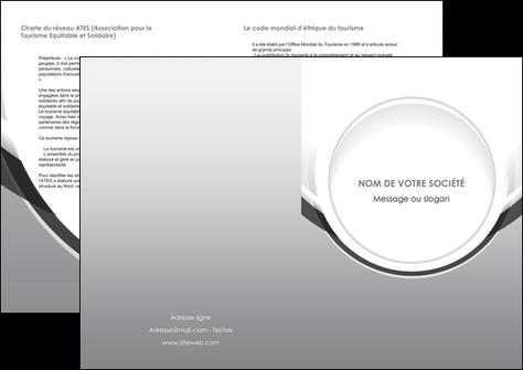 personnaliser maquette depliant 2 volets  4 pages  web design gris fond gris rond MLIG78990