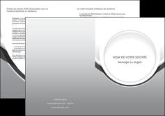 personnaliser maquette depliant 2 volets  4 pages  web design gris fond gris rond MIS78990