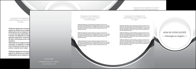 realiser depliant 4 volets  8 pages  web design gris fond gris rond MLIG78992
