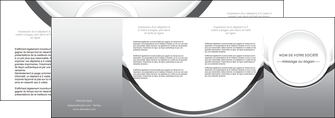 realiser depliant 4 volets  8 pages  web design gris fond gris rond MIS78992