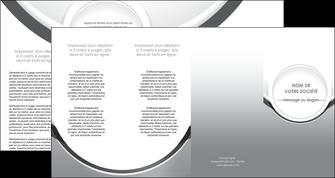 realiser depliant 4 volets  8 pages  web design gris fond gris rond MLIG78996
