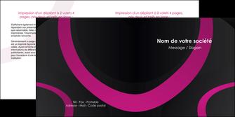maquette en ligne a personnaliser depliant 2 volets  4 pages  web design noir fond noir violet MLIG79012