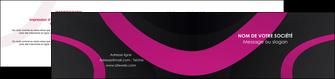 creation graphique en ligne depliant 2 volets  4 pages  web design noir fond noir violet MLIG79018