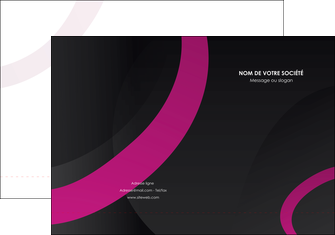 impression pochette a rabat web design noir fond noir violet MIF79028