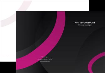 impression pochette a rabat web design noir fond noir violet MLIG79028