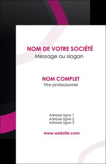 cree carte de visite web design noir fond noir violet MIF79032