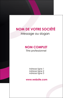 cree carte de visite web design noir fond noir violet MLIG79032