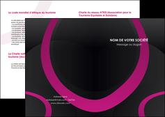 exemple depliant 2 volets  4 pages  web design noir fond noir violet MIF79036