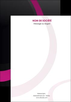 faire affiche web design noir fond noir violet MIF79044