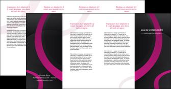 imprimerie depliant 4 volets  8 pages  web design noir fond noir violet MIF79050