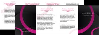 modele en ligne depliant 4 volets  8 pages  web design noir fond noir violet MIF79052