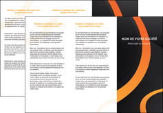 imprimerie depliant 3 volets  6 pages  web design noir orange texture MIF79112