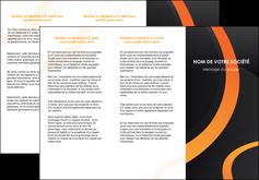 imprimerie depliant 3 volets  6 pages  web design noir orange texture MLGI79112