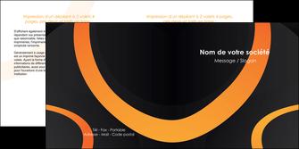 exemple depliant 2 volets  4 pages  web design noir orange texture MIF79116
