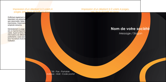 exemple depliant 2 volets  4 pages  web design noir orange texture MIF79116