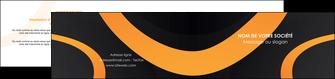 personnaliser modele de depliant 2 volets  4 pages  web design noir orange texture MLGI79122