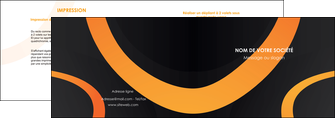 exemple depliant 2 volets  4 pages  web design noir orange texture MIF79130