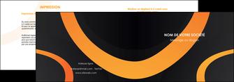 exemple depliant 2 volets  4 pages  web design noir orange texture MLGI79130