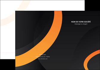 imprimer pochette a rabat web design noir orange texture MIF79132
