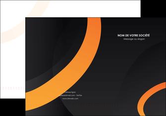 personnaliser maquette pochette a rabat web design noir orange texture MIF79134