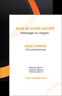 modele en ligne carte de visite web design noir orange texture MIF79136