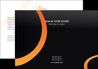 modele en ligne set de table web design noir orange texture MIF79146