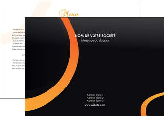 modele en ligne set de table web design noir orange texture MLGI79146