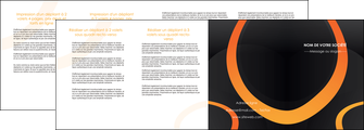 realiser depliant 4 volets  8 pages  web design noir orange texture MIF79150