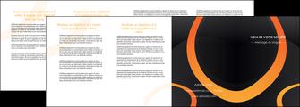 realiser depliant 4 volets  8 pages  web design noir orange texture MLGI79150