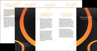impression depliant 4 volets  8 pages  web design noir orange texture MIF79154