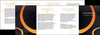maquette en ligne a personnaliser depliant 4 volets  8 pages  web design noir orange texture MIF79156