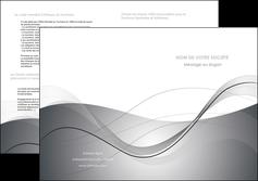 faire modele a imprimer depliant 2 volets  4 pages  web design gris fond gris texture MIF79470