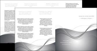 exemple depliant 4 volets  8 pages  web design gris fond gris texture MIF79476
