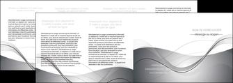 realiser depliant 4 volets  8 pages  web design gris fond gris texture MIF79478