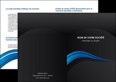 impression depliant 2 volets  4 pages  web design bleu couleurs froides gris MIF79552