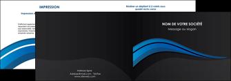 imprimer depliant 2 volets  4 pages  web design bleu couleurs froides gris MIF79562